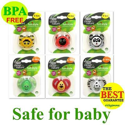 Tommee Tippee Closer to Nature Fun Soother Baby Orthodontic Pacifier 0-6m/ 6-18m