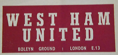 West Ham United Home Programmes V Opponents A-M *Select from list*