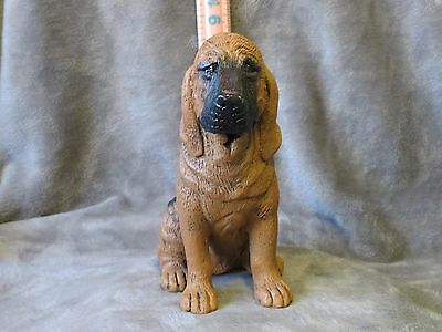 Bloodhound Plaster Dog Statue Hand Cast And Painted By T.c. Schoch