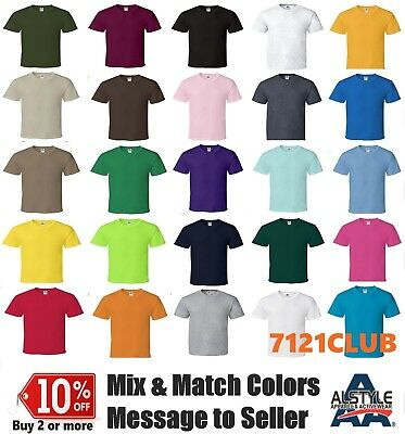 Lot 6 Pack Alstyle Apparel AAA T Shirt 1301 Mens Plain basic Short Sleeves S-5XL