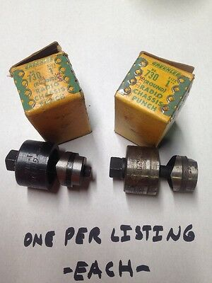 """Greenlee 1"""" Diameter Radio Chassis Actual Diameter Knockout Punch #3319/78"""