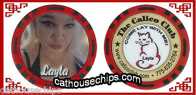 Calico Club Brothel Girl LALA Chip Battle Mountain, NV. Real Authorized Cathouse