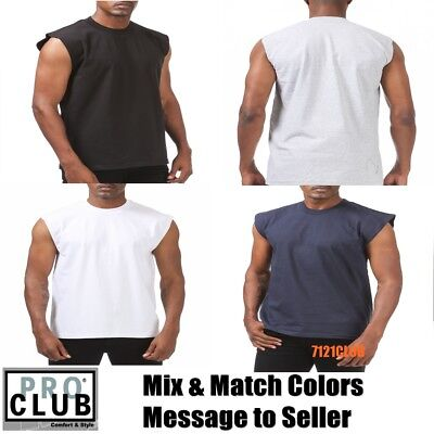 b48a4170c Lot 3 Pack Pro Club Sleeveless T Shirts Men's Heavyweight Muscle Tank Top  M- 7Xl