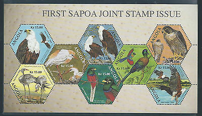 Angola 2004 Rare Sapoa Birds Minature Sheet Mnh**