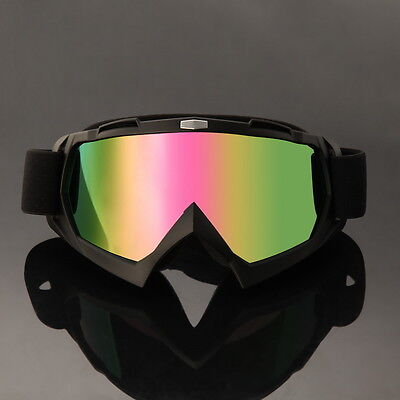 Mx Motocross Brille Solid Goggle Quad Offroad Cross Enduro Sx Mtb Atv Schwarz