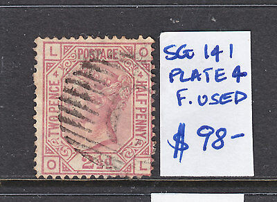 1873 QV  2 1/2d ROSY MAUVE   F.USED. PLATE 4  SG 141