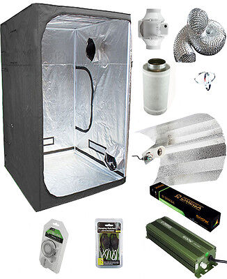 Complete Grow Tent kit 600w Digital Light Fan Carbon 1.2m x 1.2m x 2m