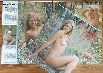 ANITA ARWICH Miss Norway 1976 4 page article nude photos clippings world beauty