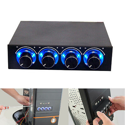 "3.5""PC HDD CPU 4 Channel Speed Controller LED Pour Ventilateur D'ordinateur"