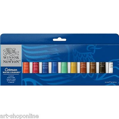 Winsor & Newton Cotman Watercolours 12 x 8ml Tube Set