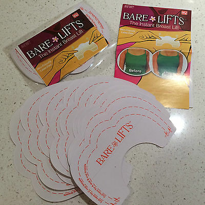 10x Bare Lifts Instant Breast Lift Support Invisible Bra Shaper Adhesive Tape
