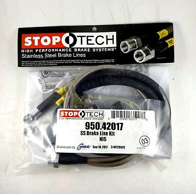 Stoptech Stainless Steel Front Brake Lines For 09-Up Nissan Gtr Gt-R Skyline R35