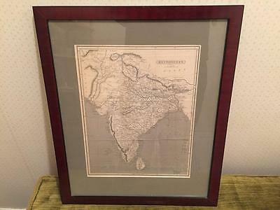Antique Framed Map of HINDOOSTAN Henry Schenck Tanner Archival Mounted 1800's