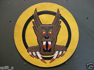Usaaf 7th Fighter Squadron Screamin Demons Bunyip Leather