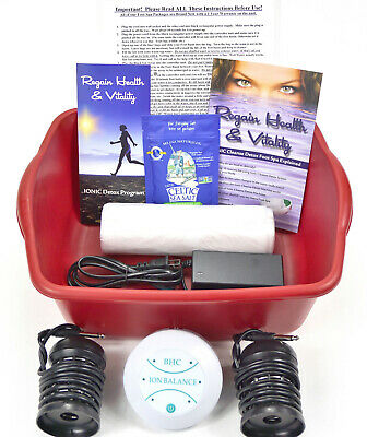 Detox Foot SPA - Automatic Detox Ionic Foot Bath Spa Cleanse Unit 1 YEAR WRRANTY