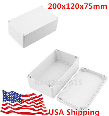 Waterproof Electronic Junction Project Box Enclosure Case 200x120x75mm B15