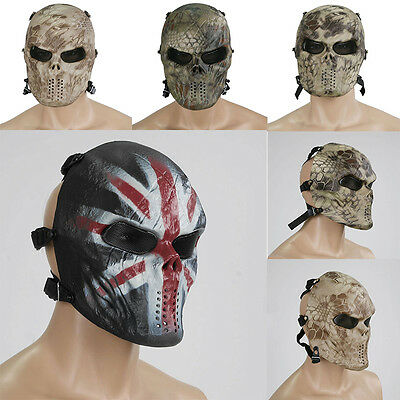 Airsoft Paintball Cosplay Full Face Protection Skull Mask CS Army Tactical Gear