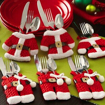 Hot New Christmas Cutlery Holder Set Tableware Suit Covers Fork Spoon Knife Bag