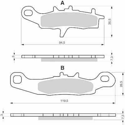 Sintered Goldfren Brake Pads For Kawasaki KFX 450 R Quad KSF450B9F Front RH 2009
