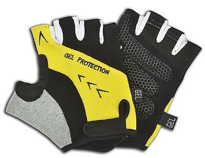 Sports Cycling Bicycle Gloves Fingerless Amara Silicone Gel Palm Half Finger