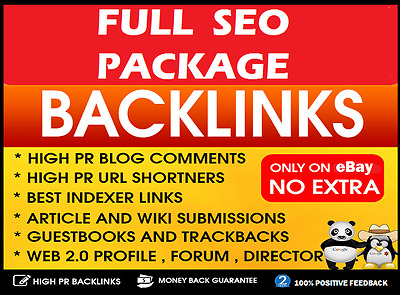 FULL SEO ! 500 Backlinks Package . 100% Penguin and Panda SAFE ! Boost Ranking .