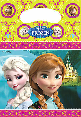 Disney Frozen Party Bags Loot Bags Party Supplies Elsa Pack of 6