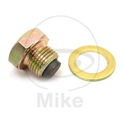 For Suzuki DR 125 S 1982-1984 Magnetic Oil Drain Plug Jmt M14X1.25 With Washer
