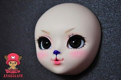 AngelGate OOAK Doll Head with makeup- amazing ONE PIECE-Chopper
