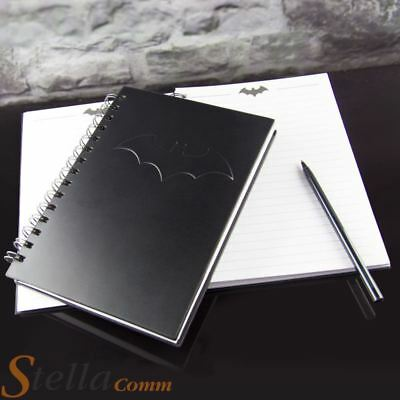 Batman 200 Page A5 Lined Paper Hard Back Ring Bound Notebook Journal