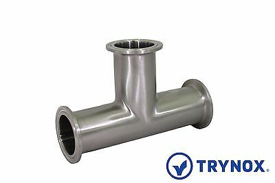 """Tri Clamp Sanitary Stainless Steel 316L 1 1/2"""" Tee Trynox"""
