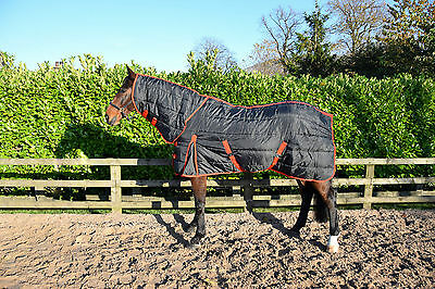 """300gm HEAVY WEIGHT COMBO stable rug/quilt, pony and horse size 4'3"""" - 7'3"""""""