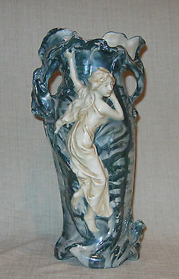 "Royal Dux Art Nouveau 11 1/4"" Vase with Maiden"