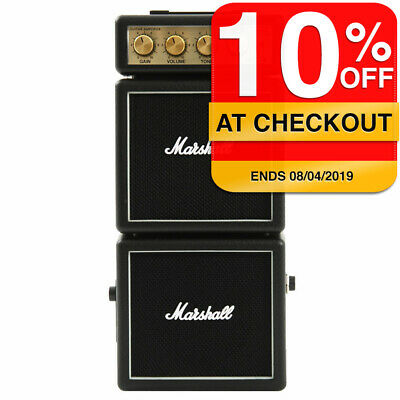 Marshall MS-4 Black Micro Stack Amp Amplifier Speaker for iPhone/iPod/Samsung