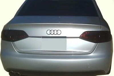09-12 Audi A4 & S4 smoked TAIL light tint covers vinyl overlays quattro