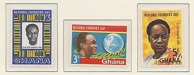 (ZK-13) 1961 Ghana 3set national founders day MUH