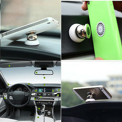 NEW 2 Type Universal 360°Rotating Car Sticky Magnetic Stand Holder For Phone GPS