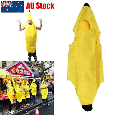 Deluxe Adult Unisex Funny Mr Banana Suit Yellow Costume Adults Party Fancy Dress