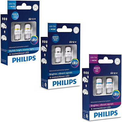 Philips Xtreme Ultinon Vision 360 Led T10 501 W5W Car Bulbs 4000K 6000K 8000K