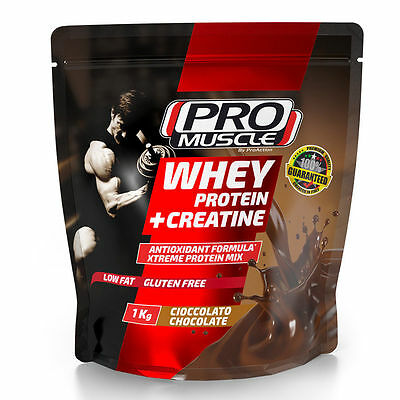 Proaction Promuscle Whey Protein + Creatine 1000 g Proteine Siero Latte Creatina