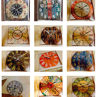 *High Quality* French Country Bistro Rustic Round Wall Clocks