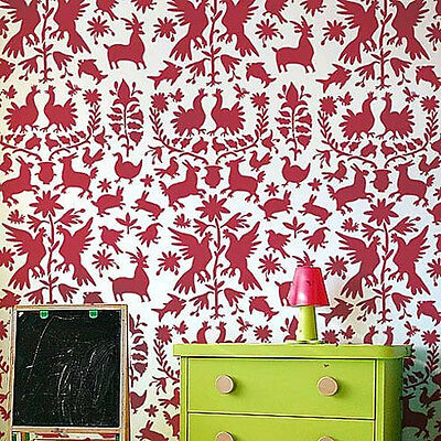 Otomi Allover Stencil Pattern - Sturdy Reusable Wall Stencils for Easy DIY Decor