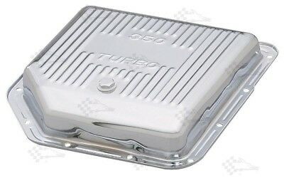 Chrome GM Turbo 350 Transmission Oil Pan - TH350 - Finned Style