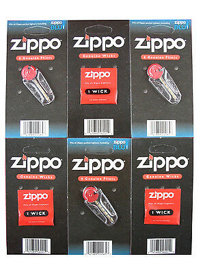 Genuine Original Zippo Lighter Flints And Wick Free PNP Multi Value Saving Deals