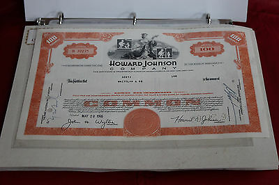 Binder of 34 Old Stock Certificates