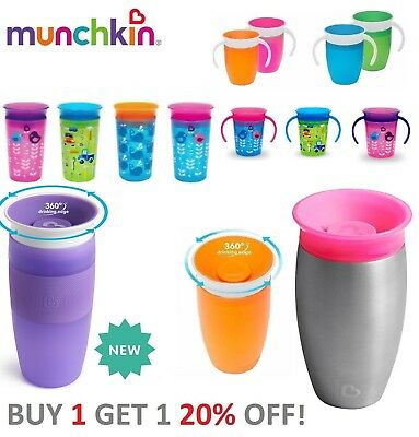 Munchkin Miracle Decor 360° Sippy Cup Anti Spill Training Cup, Baby Cup New 2016