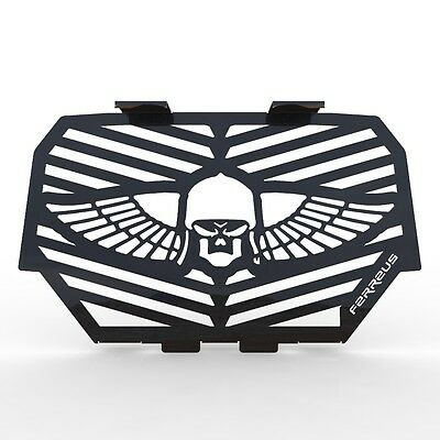 15-16 Polaris RZR 900 Skull Flame Polished Stainless Radiator Cover Grille fits