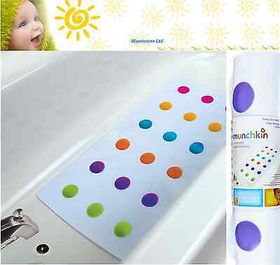 Munchkin Dandy Dots Toddler Children Anti-Slip Safety Bath Mat Colourful Design