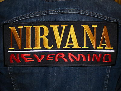 GRAND ECUSSON PATCH THERMOCOLLANT / NIRVANA NEVERMIND grunge hard rock musique