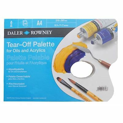 Hobbycraft Daler-Rowney Tearoff Pallette Painting Oil Acrylics Canvas White