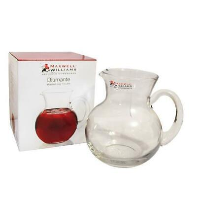 Maxwell & Williams Diamante Waisted Jug 1.5Litre Gift Boxed, Glass Water Pitcher